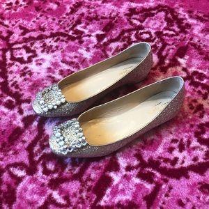 Kate Spade Glitter Ballet Flats